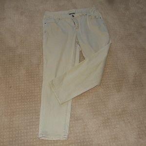 Lane Bryant Slim Leg Light Tan Jeans Size 18